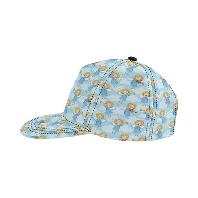 Angel Musician Pattern Print Design 09 Snapback Hat