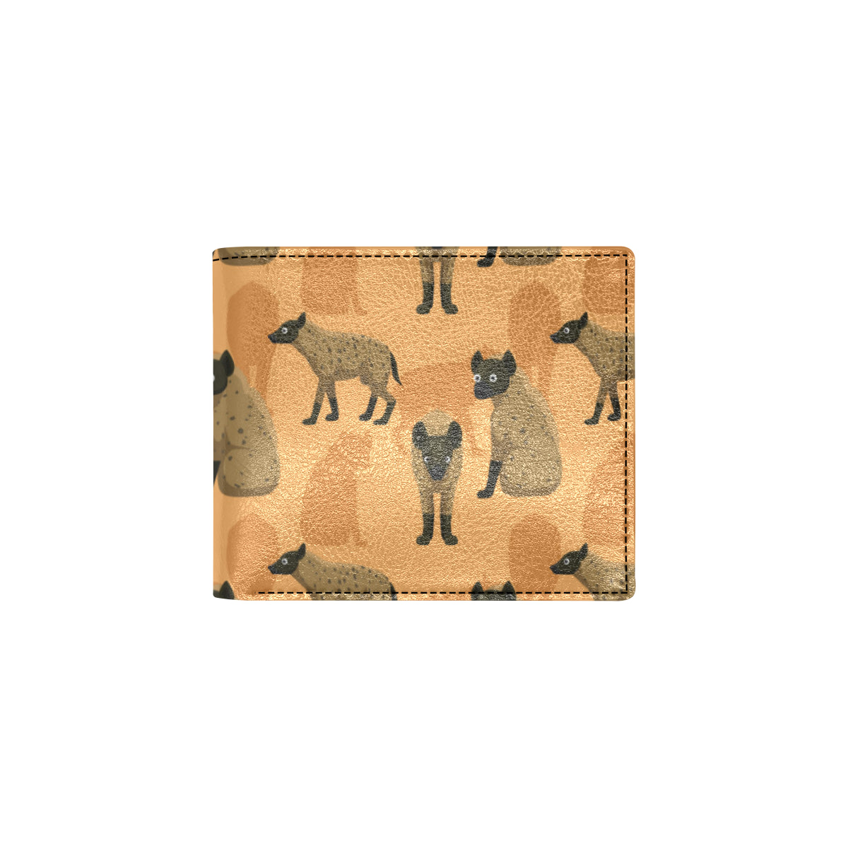 Hyena Pattern Print Design 01 Men ID Card Wallet