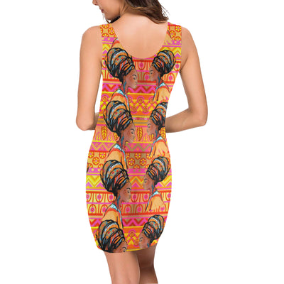African Girl Aztec Mini Dress