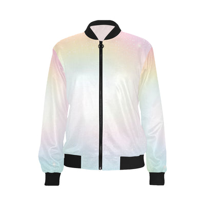 Nebula Pattern Print Design A02 Women Bomber Jacket