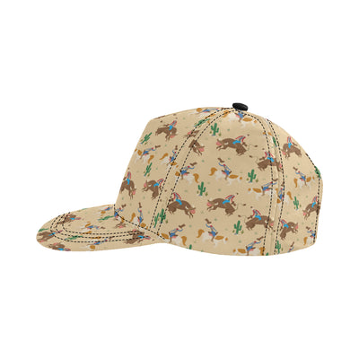 Rodeo Pattern Print Design A02 Snapback Hat