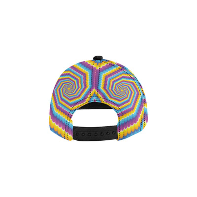Optical illusion Pattern Print Design A04 Snapback Hat