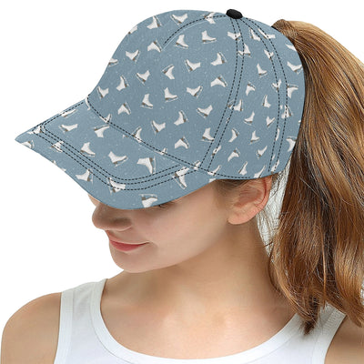 Ice Skate Pattern Print Design 02 Snapback Hat