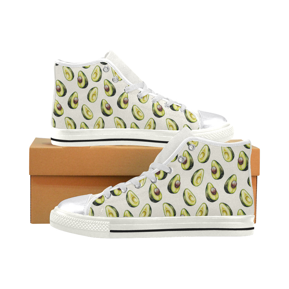 Avocado Pattern Print Design 01 Women High Top Shoes