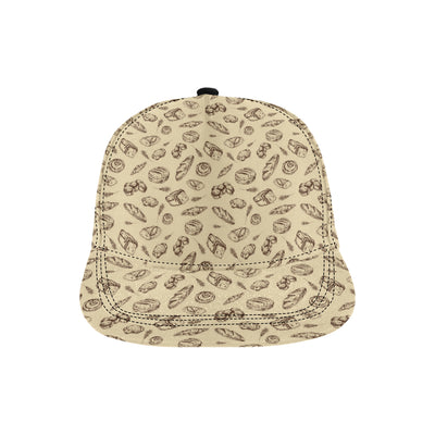 Bread Pattern Print Design 04 Snapback Hat