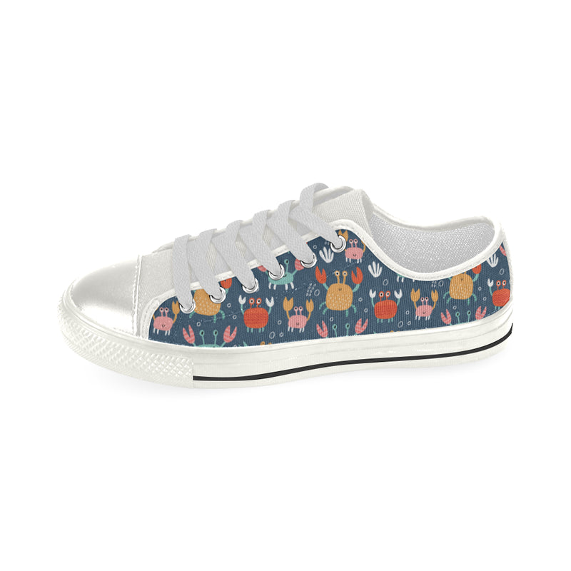 Crab Pattern Print Design 05 Low Top Shoes