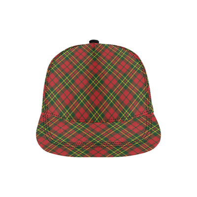 Plaid Holiday Pattern Print Design A01 Snapback Hat