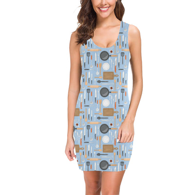 Cooking Kitchen Tools Pattern Print Design 02 Mini Dress