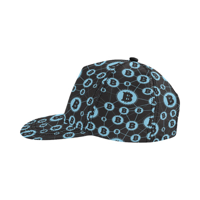 Cryptocurrency Pattern Print Design 02 Snapback Hat