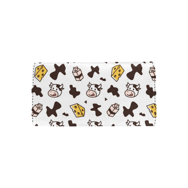 Cow Pattern Print Design 06 Women Trifold Wallet