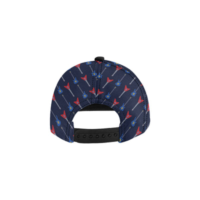 Electric Guitar Pattern Print Design 01 Snapback Hat