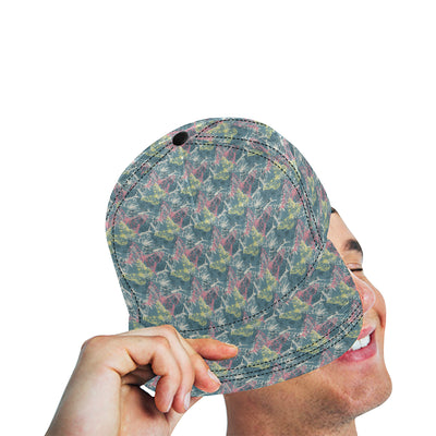 Butterfly Pattern Print Design 01 Snapback Hat