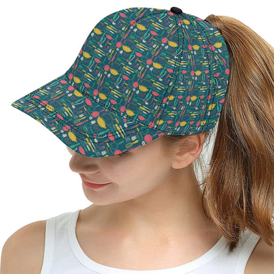 Cooking Kitchen Tools Pattern Print Design 01 Snapback Hat