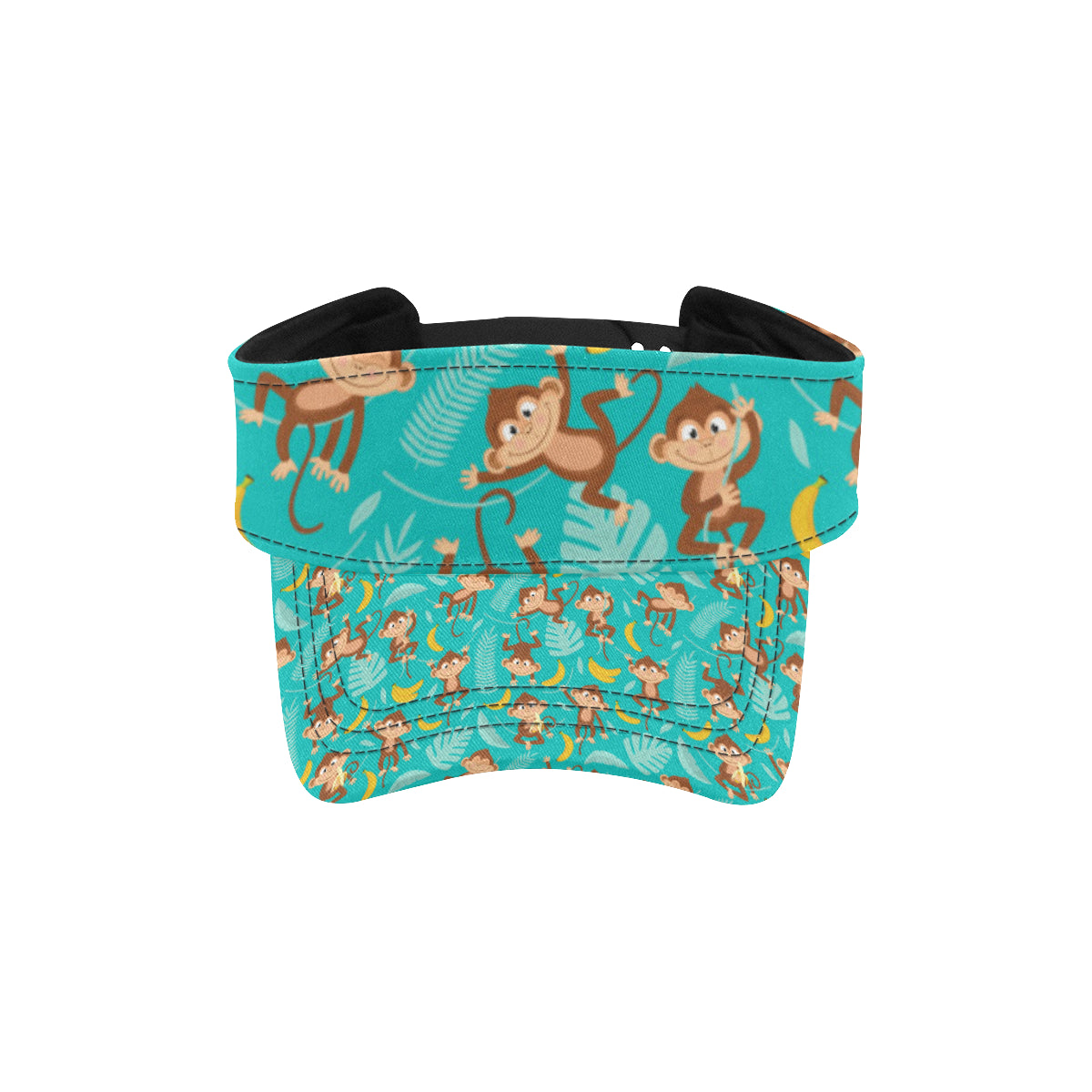 Monkey Happy Design Themed Print Unisex Sun Visor