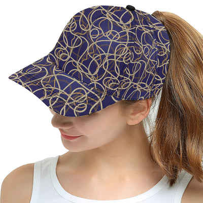 Rope Pattern Print Design A01 Snapback Hat