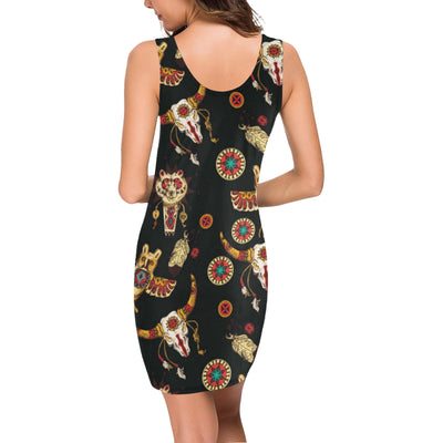 Native American Symbol Pattern Mini Dress
