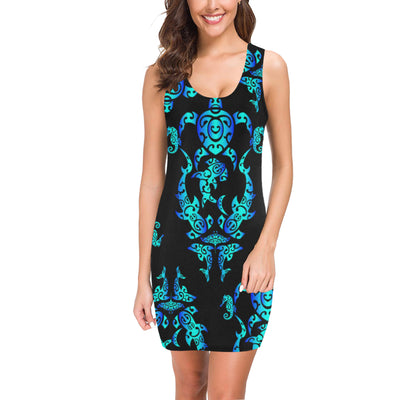 Sea turtle Polynesian Tribal Hawaiian Mini Dress