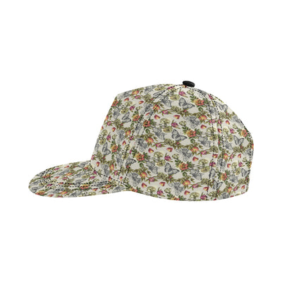 Butterfly Flower Pattern Print Design 06 Snapback Hat