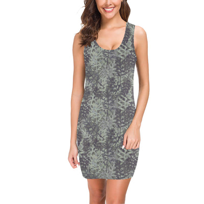 Camouflage Fern Pattern Print Design 05 Mini Dress