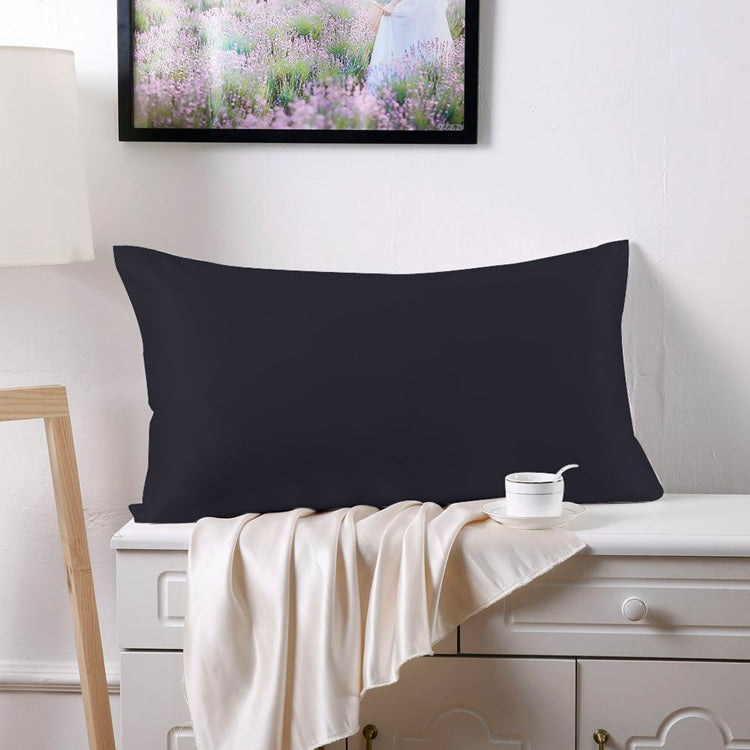 100% Mulberry Silk Pillowcase - Black