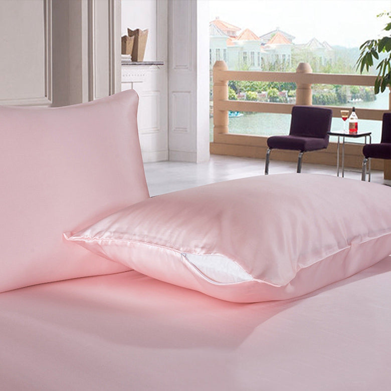 100% Mulberry Silk Pillowcase - Pink