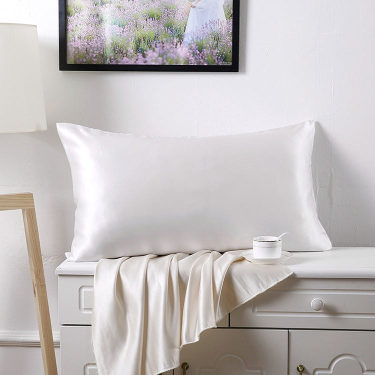 100% Mulberry Silk Pillowcase - White