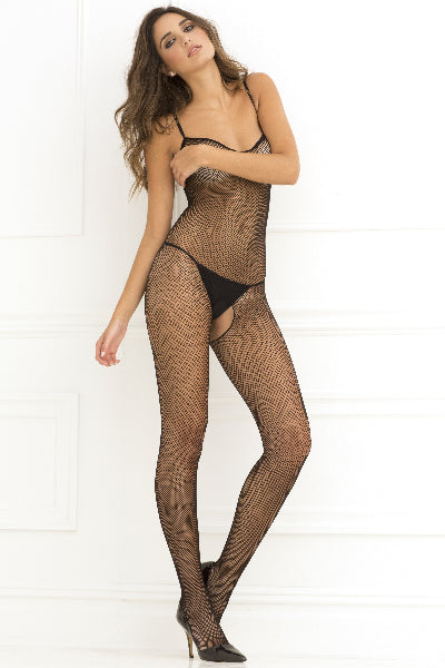 Criss-Cross Backstrap Fishnet Bodysuit