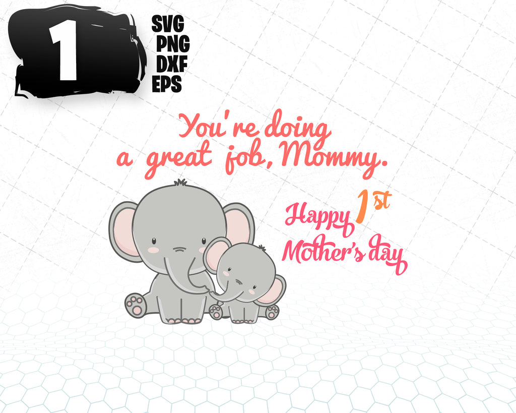 Free Happy first mothers day card by megan claire. 1st Mother S Day Happy Mothers Day First Mother S Day Mother S Day Svg Designs For Cutting And Printing SVG, PNG, EPS, DXF File