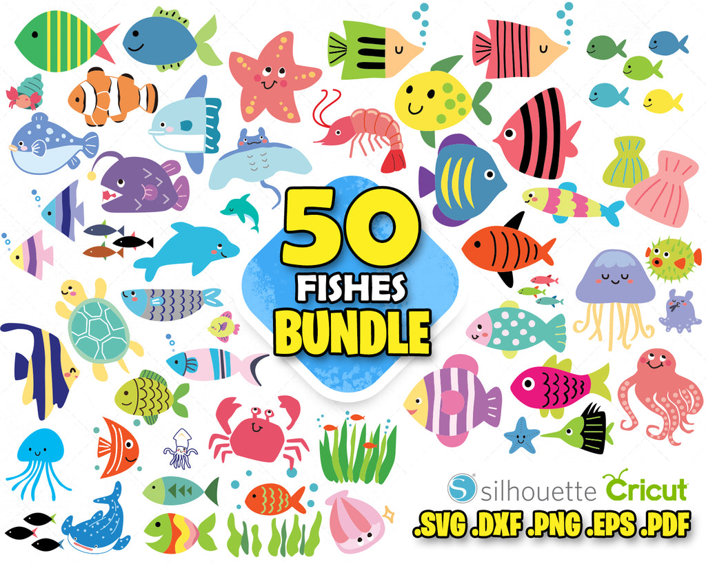 Download Fish Svg Cute Fish Svg Little Fishes Silhouette Fish Vector Fi Svg Designs For Cutting And Printing