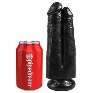 Dildo Realistico Doppio 'Two Cocks One Hole' 20.3 cm (Latino/Marrone/Nero) - Sexy Gioie