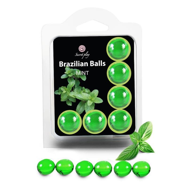 Secret Play Brazilian Balls Menta 6 Sfere Massaggio Lubrificanti - Sex Toys SexyGioie