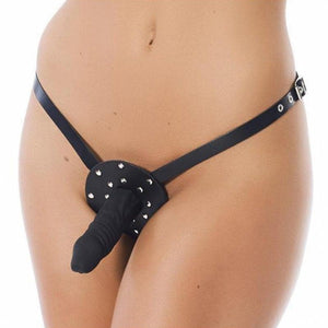 Strap-on Harness in Pelle + Dildo 12 cm - Sexy Gioie
