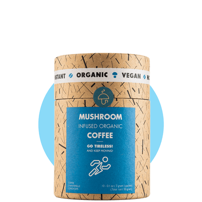 Go Tireless – organic instant coffee with Cordyceps and Chanterelle-Improve endurance and strength-Mushroom Cups