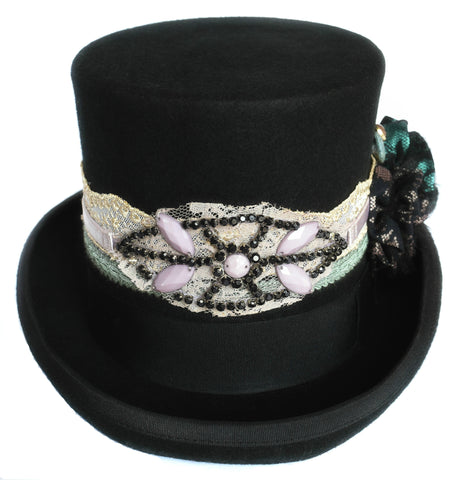 Exclusiv Steampunk Gypsy Hat i Uld