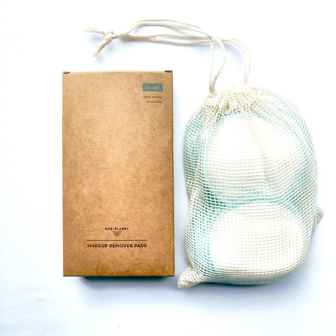 cotton rounds with box and mesh wash bag