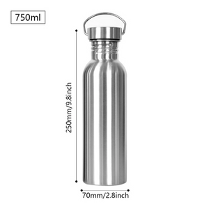 eco friendly bottle with measurements