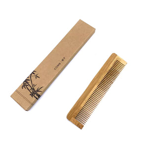 bamboo comb with recycled brown box