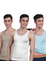 Twin Skin Organic Bamboo Vest - Comfort Fit (Pack of 3)