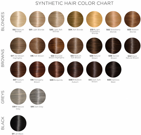 soho hair extension color chart