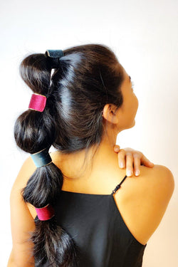 Velvet Coated Ponytail Cuff 2 PCS Set