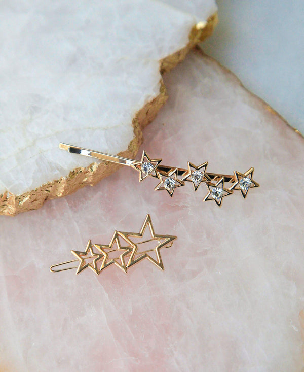 Black Friday - Supernova Crystal Bobby Pin & Gilded Stars Set Special