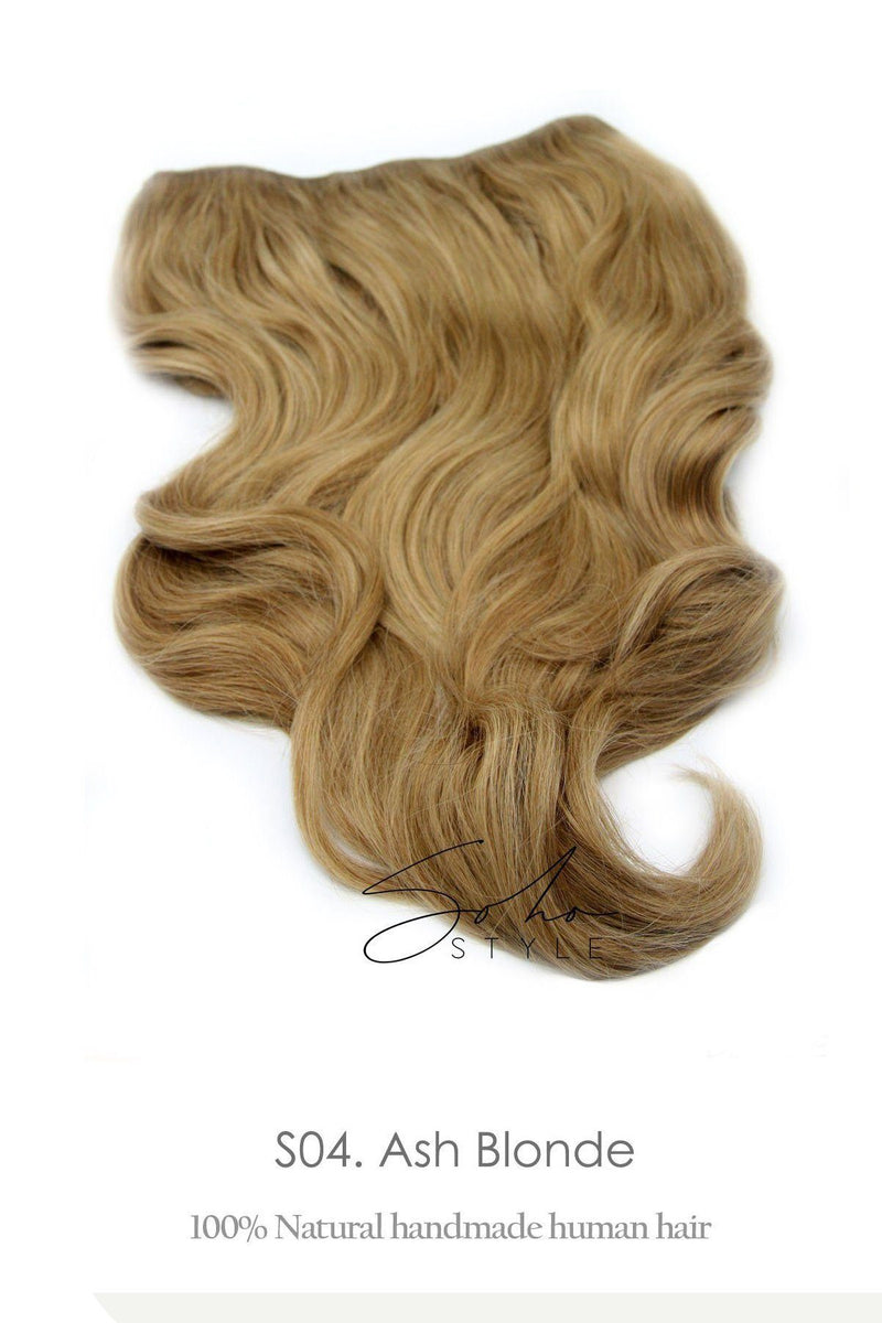 "Aura - Invisible Wired (Halo) Remy Human Hair Extension Available in 14"" or 20"" Hair Extension Sale"