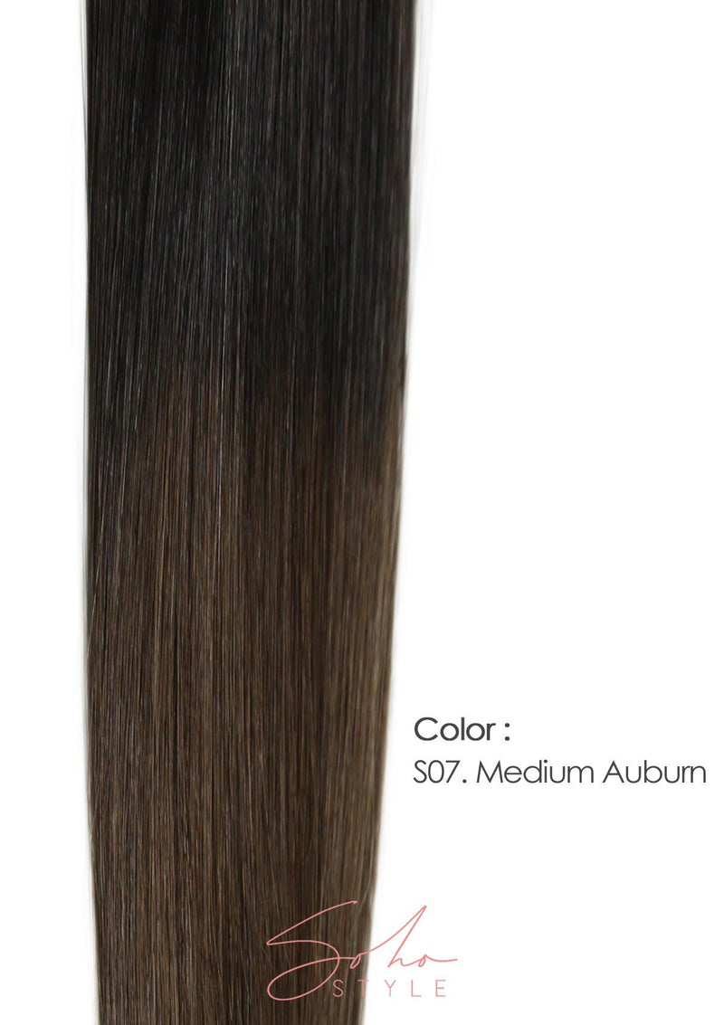 "Root Two Tone Godiva - 20"" Luxury Long Volume Topper Remy Human Hair Extension Hair Extension Soho Style"