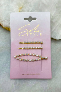 Mother of Pearl and Pearl Pop Bobby Pin 3PCS Set Bobby Pins 2019
