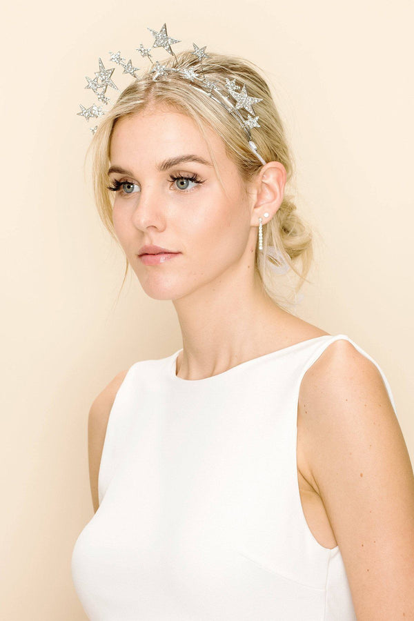 SILVER LINING STAR HAIR CROWN Wedding Sale