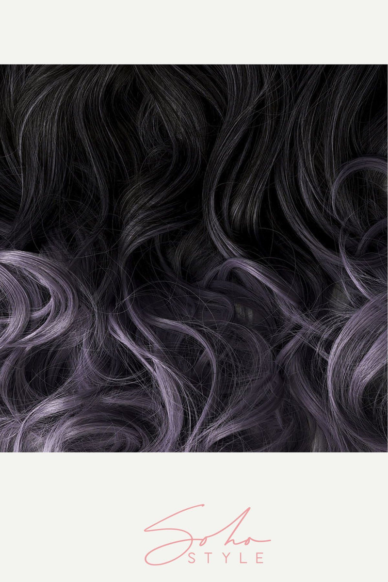 Purple Tone Ombre Halo Extensions Hair Extension Sale