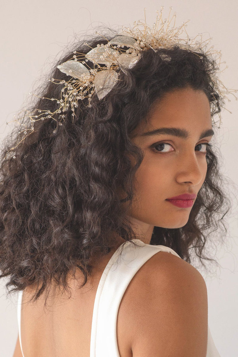 Organza Bloom Flower Hair Crown