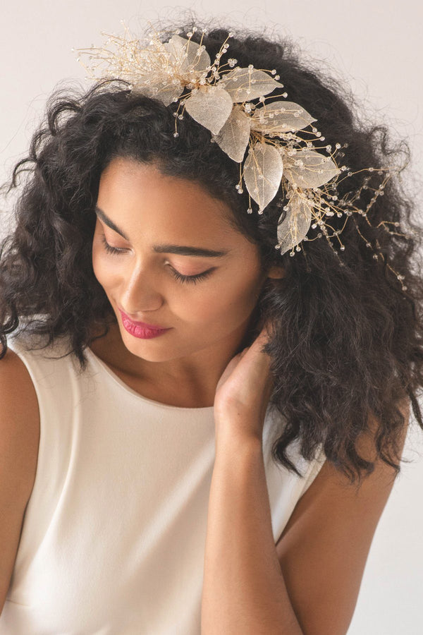 Organza Bloom Flower Hair Crown Wedding Soho Style