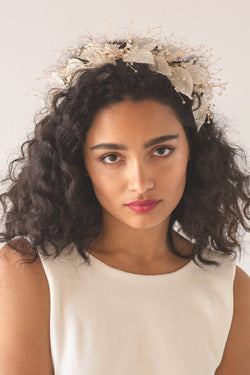 Organza Bloom Flower Hair Crown  - Soho Style