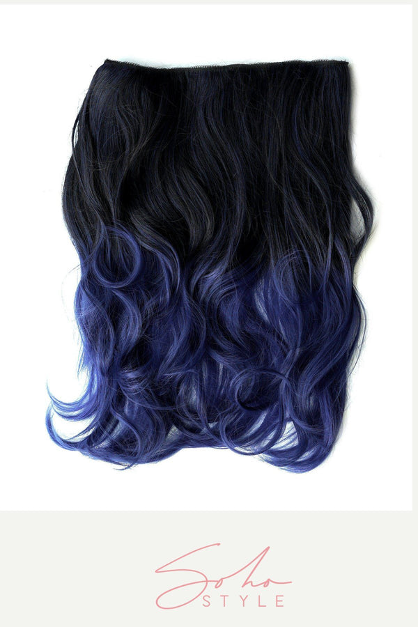 Blue Tone Ombre Halo Extensions Hair Extension Sale